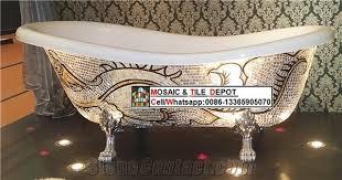 gold mosaic china mosaic tile silver mosaic bathtub mosaic