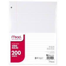 2 inch notebooks amazon com mead 15200 filler paper 15lb wide rule 3 hole 10 1