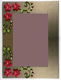 Paper Quilling Flower Frames Handmade Paper Quilling Photo Frame With Flowers 005