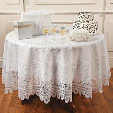 Round Kitchen Table Cloth Round White Lace Tablecloth Orientaltradingcom I Want To Put