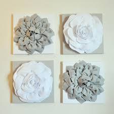 white flower metal wall decor