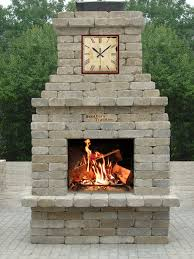diy outdoor wood burning fireplace kits outdoor designs