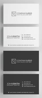 Clean Business Card Templates Design Graphic Design Junction