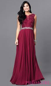 Jeweled Lace Bodice Long Evening Dress Promgirl
