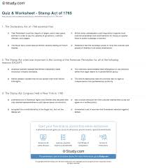 stamp act worksheet rringband quiz worksheet stamp act of 1765 study com