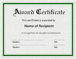 Samples Of Awards Certificates Award Certificate Template Sample Get Sniffer