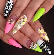 Výsledek obrázku pro neon nails