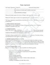Nanny Contracts Mesmerizing Nanny Contract Sample Nanny Resume Cover Letter Sample Nanny Resume