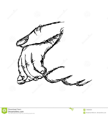 Hand Of Baby Holding Mother Vector Illustration Sketch Hand Draw