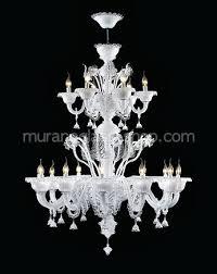 eighteen lights chandelier in white milk