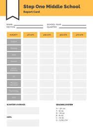 School Report Card Format Customize 10 016 Report Card Templates Online Canva