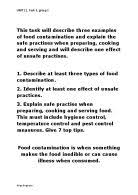 basic hygiene practices for food preparation and cooking gcse related gcse food technology essays
