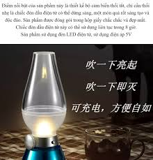 Đèn Dầu cảm ứng Điện Tử LED Thổi Tắt khi bật - Đèn dầu cảm ứng không khói  khi thổi Đèn thờ sạc điện đèn bàn thờ sạc điện đèn bàn thờ
