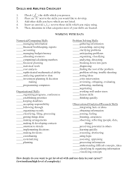 Resume Skills And Abilities Skills And Qualifications Resume Examples Of Skills And Abilities 20