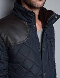 Green leather look sleeve field jacket - coats / jackets - sale ... & Green leather look sleeve field jacket - coats / jackets - sale - men | I'm  all outer wear | Pinterest | Field jacket Adamdwight.com