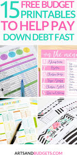 Budget Planners Free 15 Free Budget Templates That Will Help Pay Down Debt Fast
