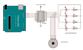 arduino stepper motor interfacing circuit diagram
