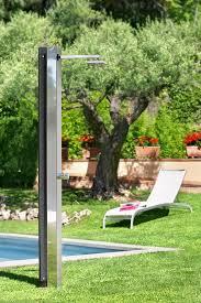 solar outdoor shower stainless steel