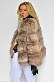 fox furs beige royal saga fox fur coat