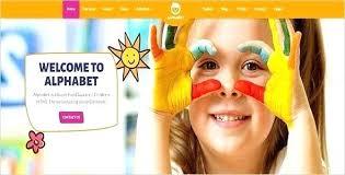 Kids School Website Template Free Kids Website Template