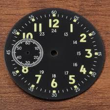<b>39mm</b> Sterial <b>Black</b> watch <b>Dial</b> fit eta 6497 Seagul st36 movement ...