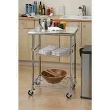 stainless steel kitchen cart with shelf workstation utility dolly kitchen