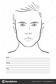 face chart makeup artist blank template vector ilration stock vector