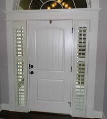 front door sidelight blindsProjects  Daves Shutters  Blinds