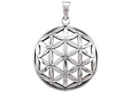 sterling silver 30mm flower of life sacred geometry pendant