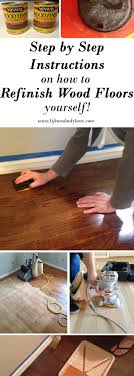 how to refinish hardwood floors yourself via life on shady lane diy hardwood floors how to stain your floors