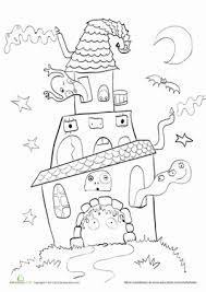 haunted house coloring page holiday gear ratio worksheet termolak on 6th grade math ratios and rates worksheets