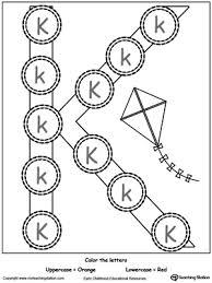 Identify Uppercase Lowercase Letter K writing lowercase letter k myteachingstation com on teaching alphabet letters to pre k children printable