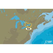 Lake Ontario Chart Na Y934 Lake Ontario And Trent Severn Waterway C Map Max N Chart C Card