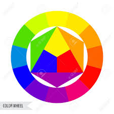 Bright Color Wheel Chart Isolated On White Background Vector