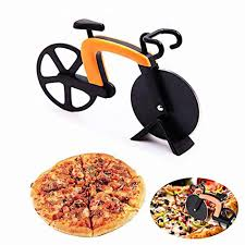 New Design Stainless Steel <b>Pizza Knife</b> Two <b>wheel Bicycle</b> Shape ...