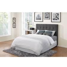 dark grey king size tufted headboard for bedroom decoration ideas