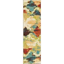 multicolor runner rug rugs bright color distressed diamonds diamond patches multi runner x 8 multi coloured multicolor runner rug