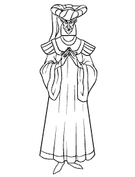 Claude Frollo Glorify Coloring Pages For