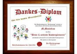 Urkunde Beste Erzieherin Im Kindergarten Eine Danke Schön Zum