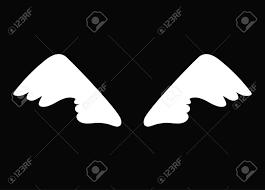 Witte Cartoon Engelenvleugels Vogels Zwaan Gans Geïsoleerd Op