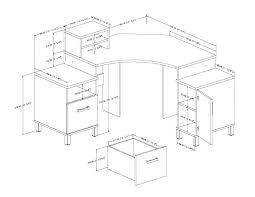 standard chair seat height office dimensions cm desk