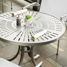 patterned aluminum tables la stratta