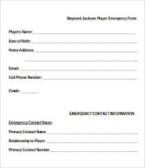 Contact Information Form Template Word 11 Emergency Contact Forms