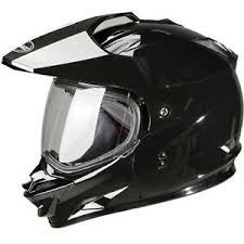 Details About Gmax Gm11 Black Helmet Mx Atv Snow Street Lightweight Dual Sport Tinted Visor