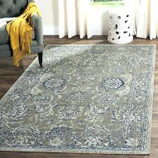 gray round area rug dark cotton blue olga 9x12