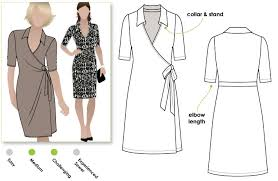 Wrap Dress Sewing Pattern Magnificent Lea Knit Wrap Dress Style Arc