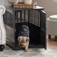 luxury dog crates furniture. Buy Indoor Wooden Dog Pet Crate End Table Furniture Espresso Family Room Bedroom At Online Store Luxury Crates