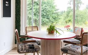 diy wood slat table base and how i