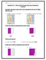 My Math 4th Grade Chapter 10 Fractions And Decimals Worksheets