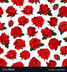 Rose Pattern Mesmerizing Red Rose Flower Seamless Pattern Background Design